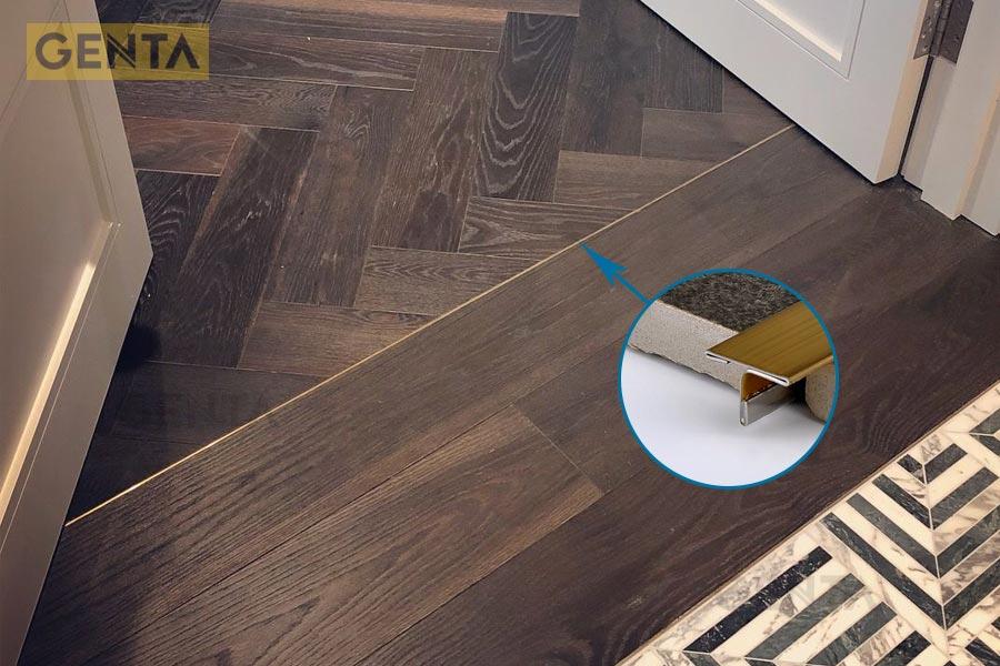 Nẹp chỉ T inox 8mm sàn gỗ