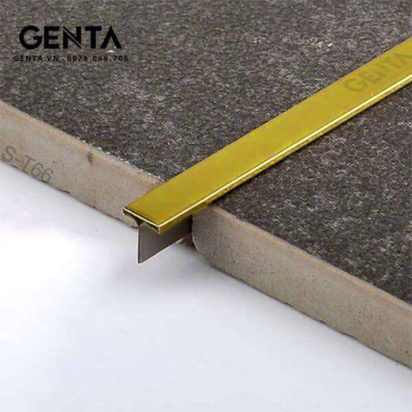 Nẹp T inox 6mm S-T66, vàng bóng
