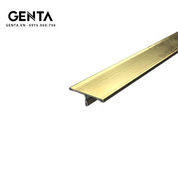 Nẹp T inox 25mm S-T25, vàng xước