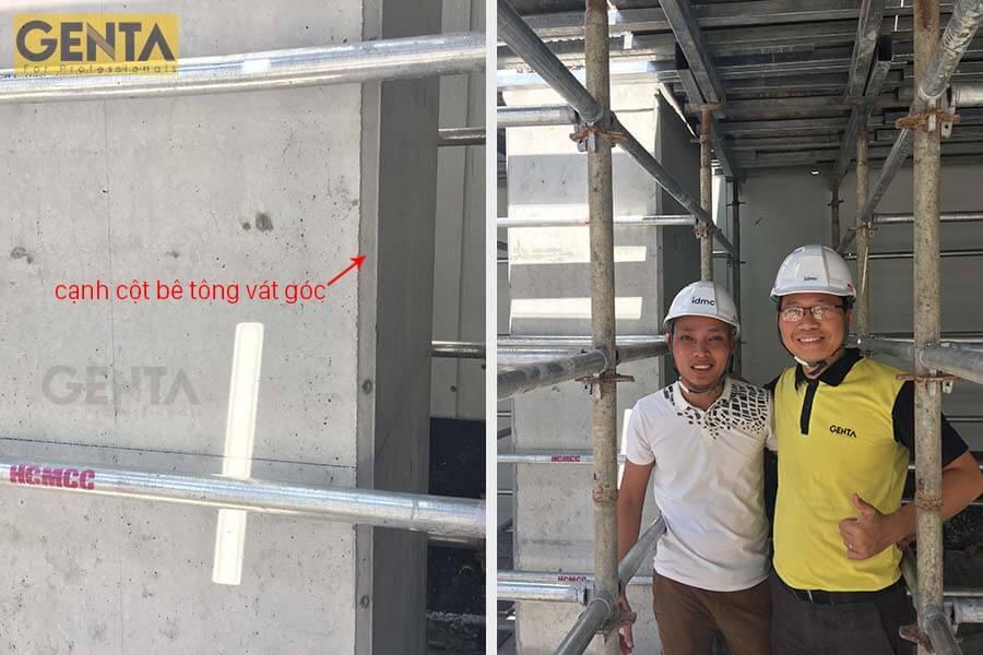 Thăm quan công trình sử dụng nẹp vát góc của GENTA