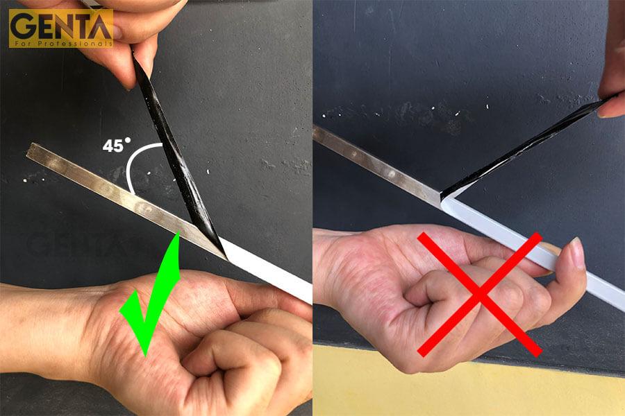 Phương pháp bóc băng dính khỏi thanh nẹp ốp gạch đúng cách