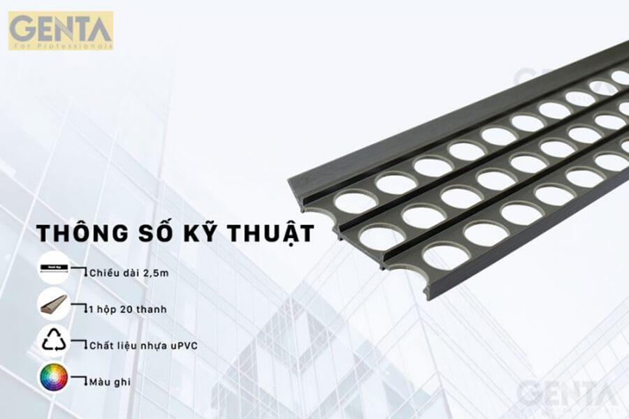 Thông số kỹ thuật nẹp P-G300