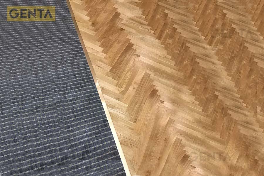 Nẹp T8 vàng ứng dụng cho sàn