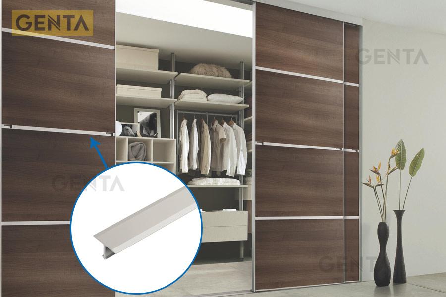 Nẹp nhôm T20 trang trí tủ gỗ