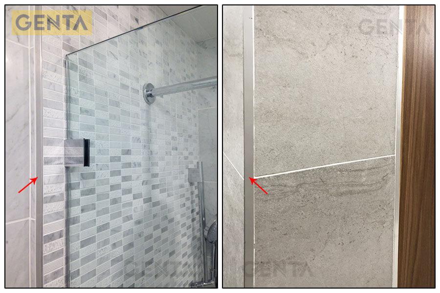 Phòng tắm gắn nẹp TSD120 màu inox