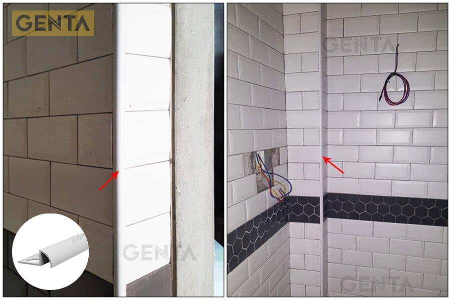 Khu vực phòng vệ sinh sử dụng nẹp T-10 (W)