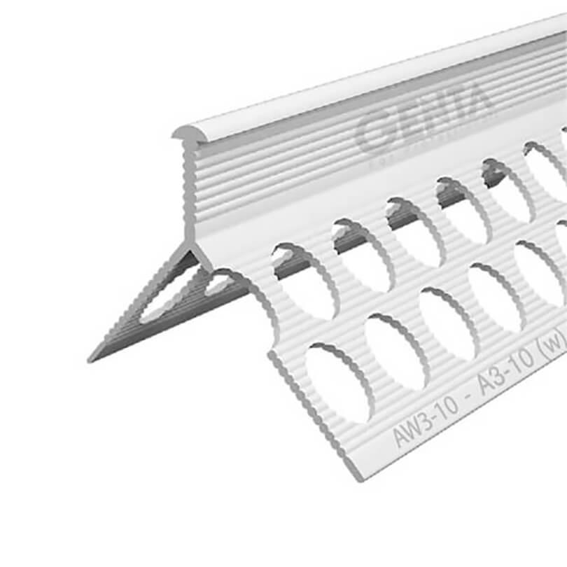 Nẹp góc trát tường nhựa AW3-10, trắng
