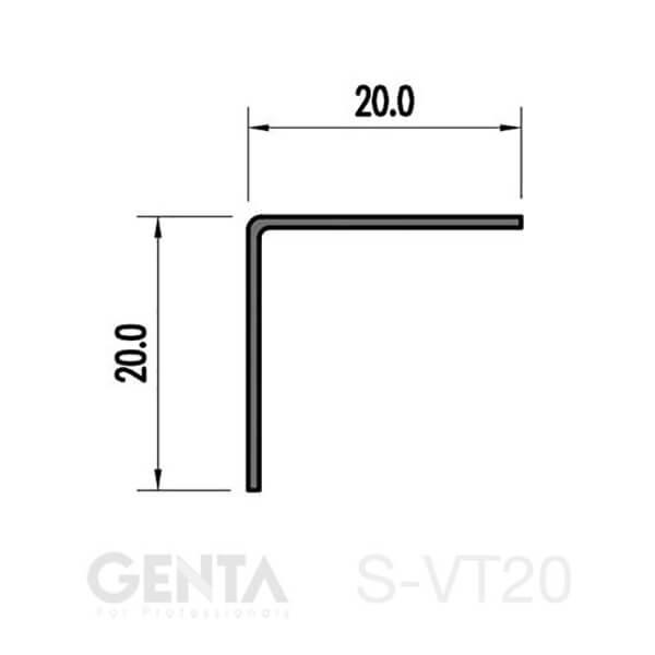mặt cắt nẹp S-VT20