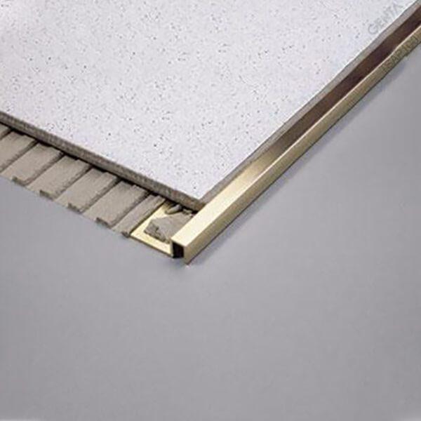 Nẹp nhôm bo góc vuông TSAP100 (S) vàng bóng