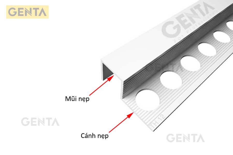 cấu tạo nẹp nhựa góc vuông GENTA