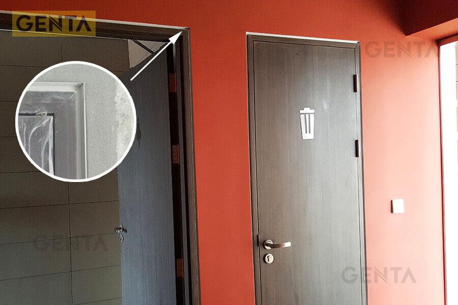 Vị trí cửa ra vào sau khi hoàn thiện dùng nẹp GENTA