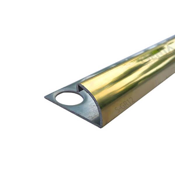 Nẹp inox bo tròn S-GR12 vàng bóng