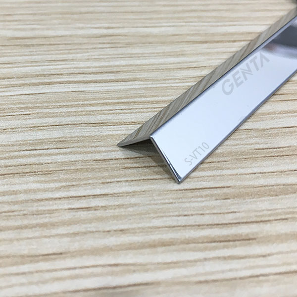 Nẹp chữ V ốp góc S-VT10 inox bóng