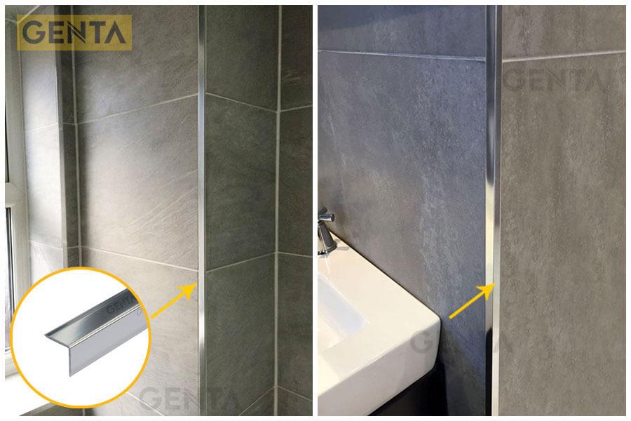 ứng dụng nẹp V ốp góc tường S-V20 trong các công trình