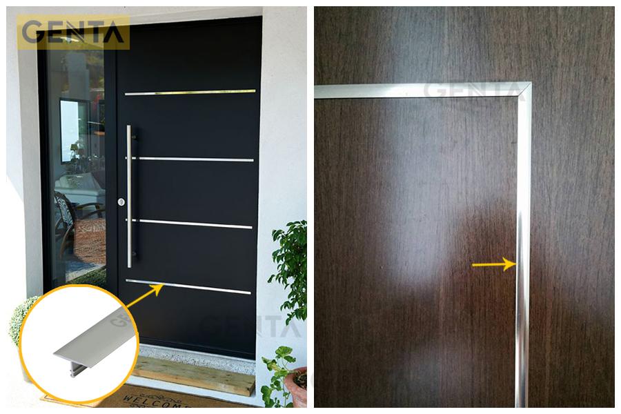 Vị trí cánh cửa gắn nẹp T nhôm CVAC220 tạo sự độc đáo