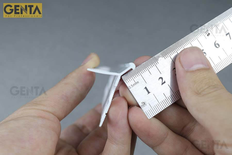 Đo kích thước nẹp nhựa bo góc tròn AW3-10