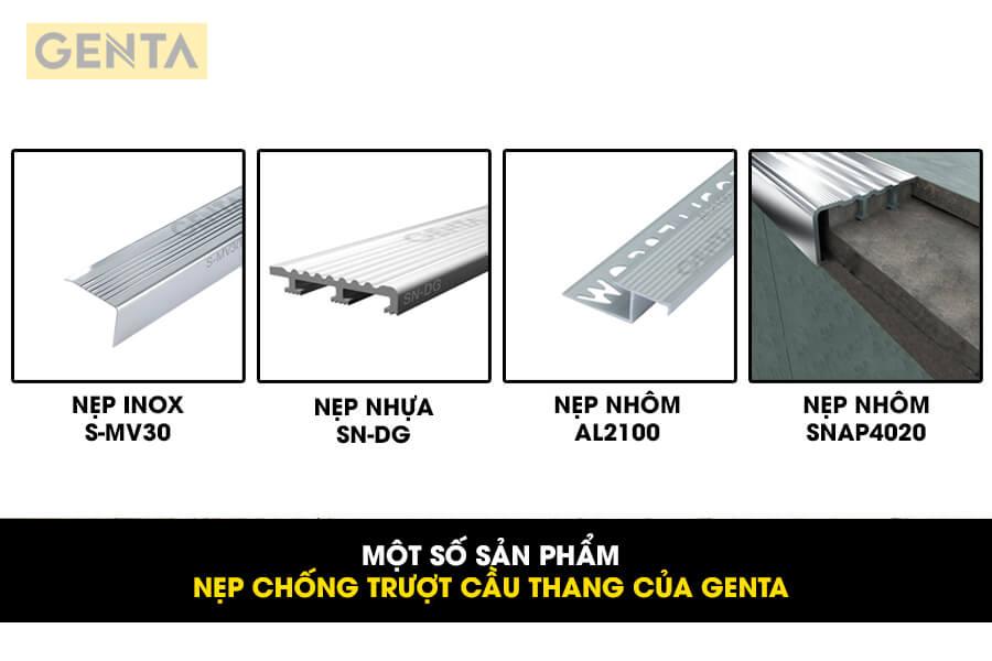Một số loại nẹp chống trượt cầu thang của GENTA