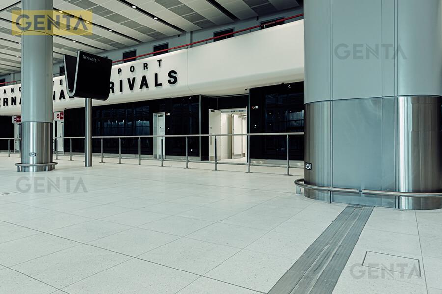 Nẹp che khe lún ứng dụng tại sảnh sân bay
