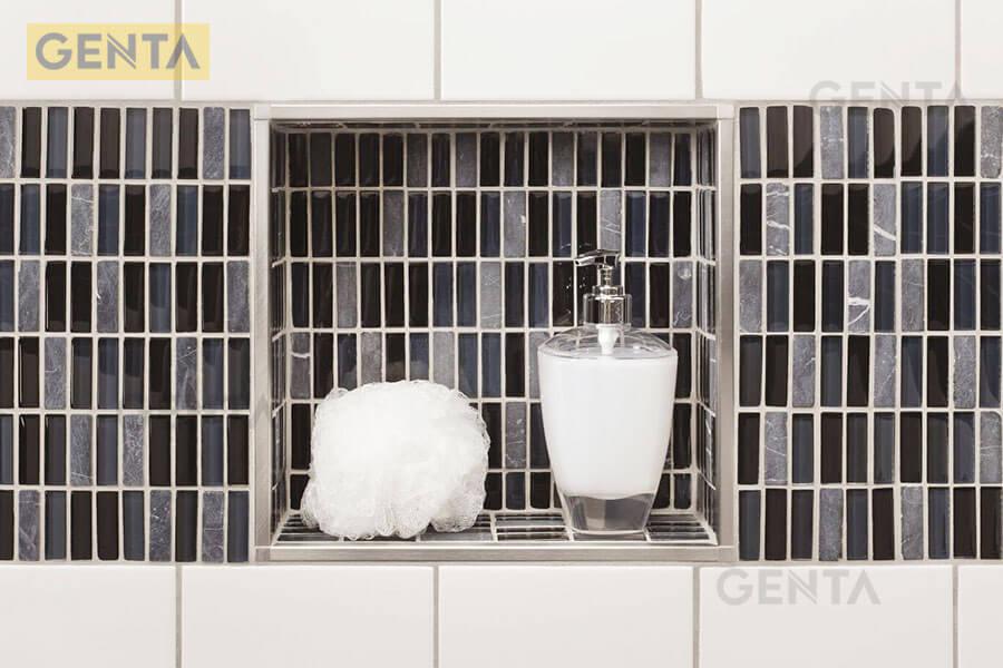 Nẹp S-GS12 inox xước có thể kết hợp nhiều loại gạch khác nhau