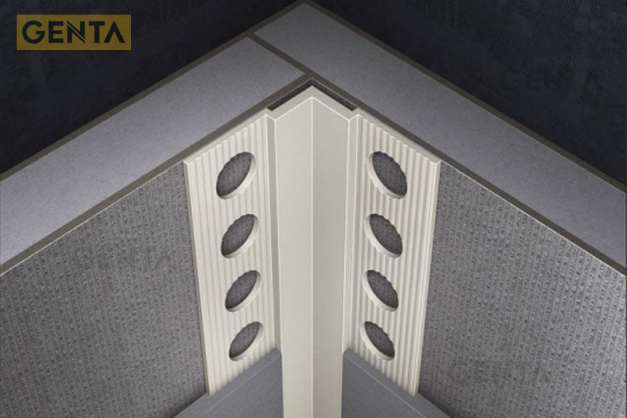 Nẹp trát góc âm được sử dụng cho góc tường