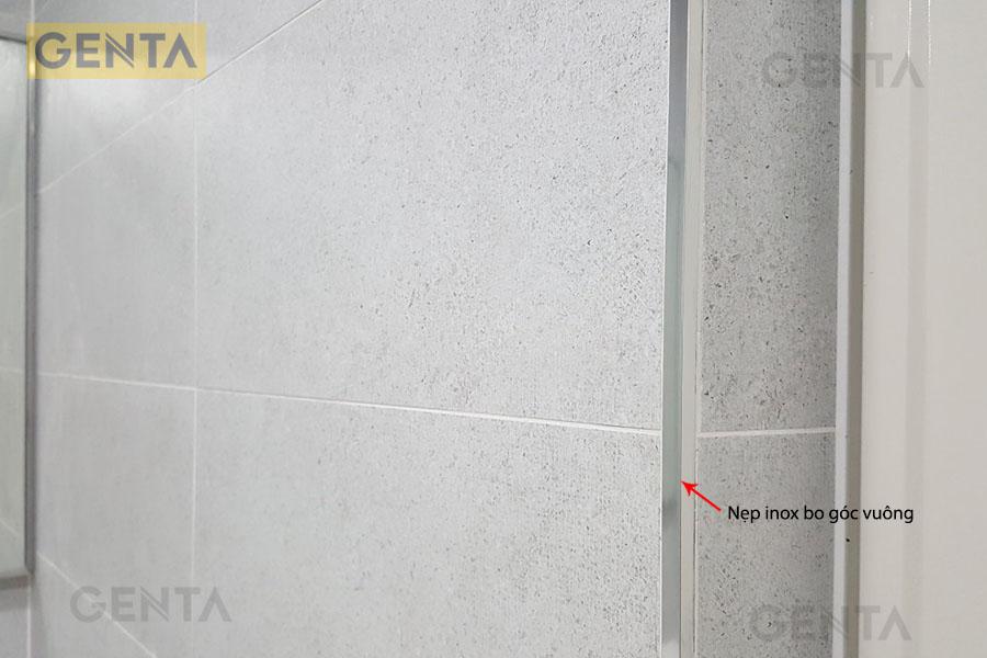 Nẹp inox bo vuông S-GS12 inox xước dùng ốp cạnh tường