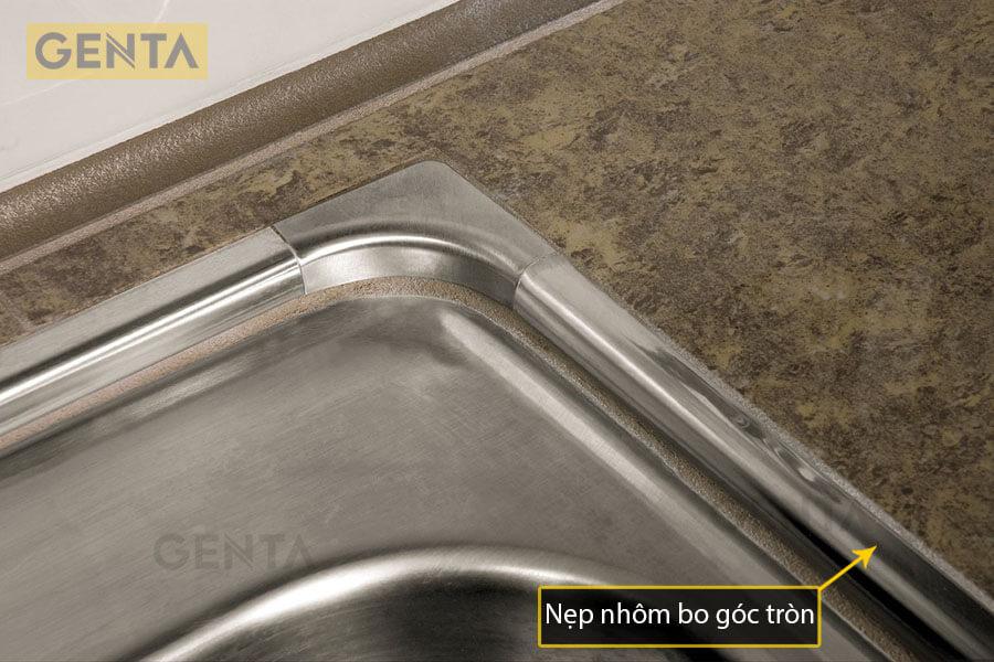Nẹp nhôm bo góc tròn cạnh bồn rửa