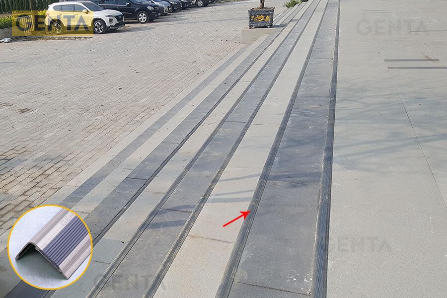 Hình ảnh công trình sử dụng nẹp nhôm chống trượt TL30