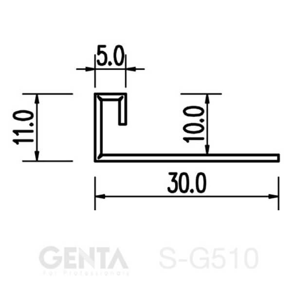 Mặt cắt nẹp S-G510