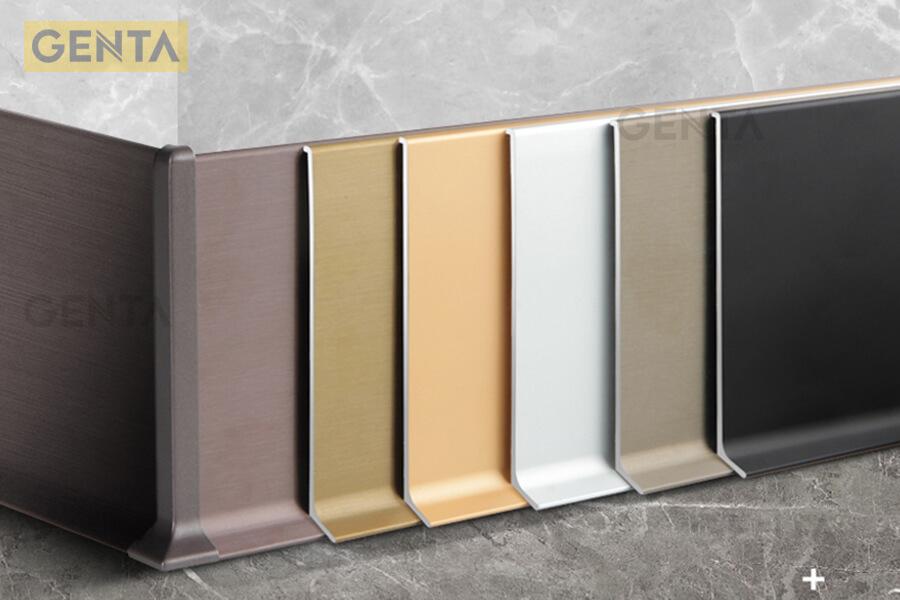 Len chân tường inox 304 S-CD có nhiều màu sắc phong phú