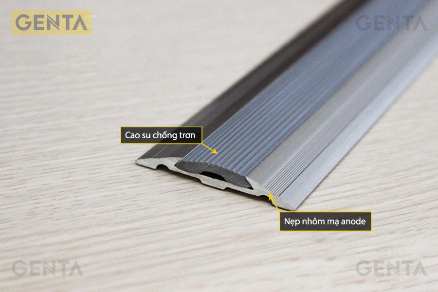 Cấu tạo nẹp nối sàn gỗ nhôm NCP8.0