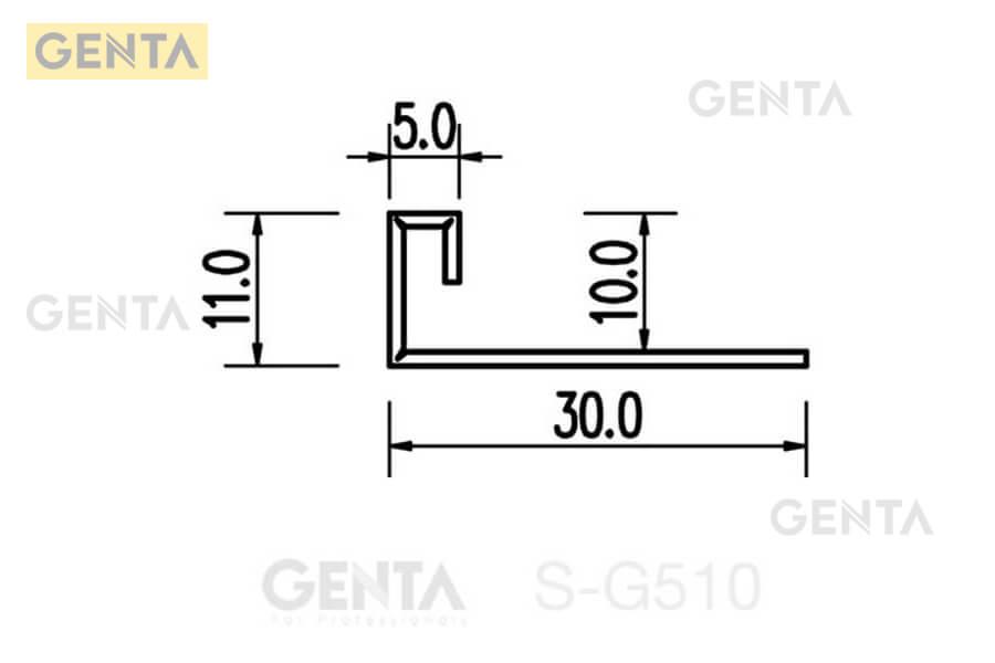 Cấu tạo của nẹp chênh cốt sàn gạch S-G510