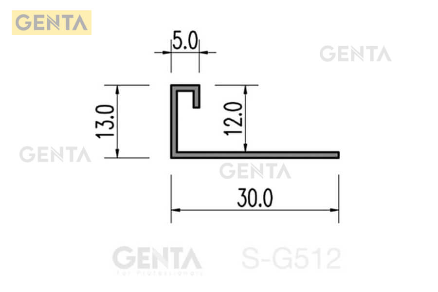 Cấu tạo của nẹp chênh cốt sàn gạch S-G512