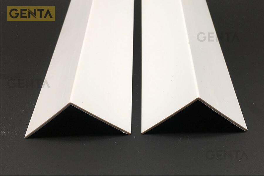 Nẹp nhựa chữ V-45 trong xây dựng có chất liệu tốt, dày dặn