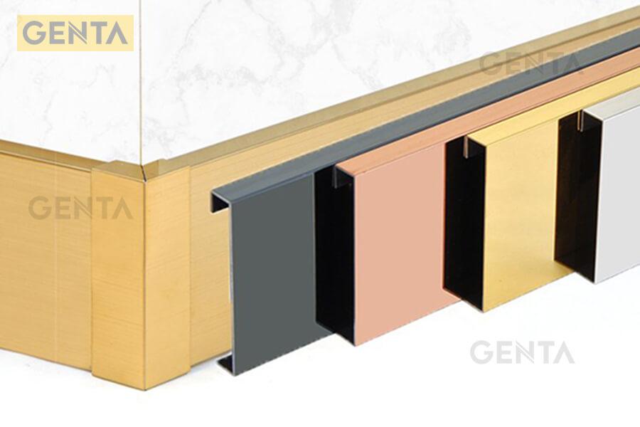 Hình ảnh len chân tường inox 304 S-CV tại GENTA