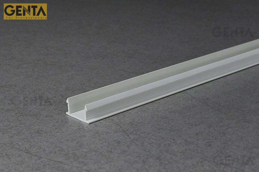 Nẹp nhựa chữ U GL-15 màu trắng tạo trang trí vách tường, trần
