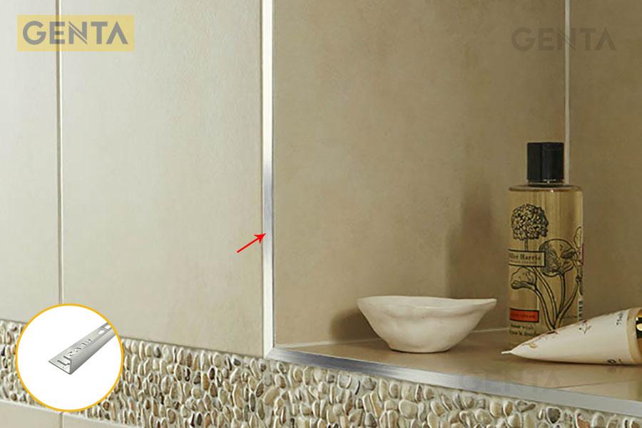 Nẹp nhôm bo cạnh được ứng dụng trong phòng tắm
