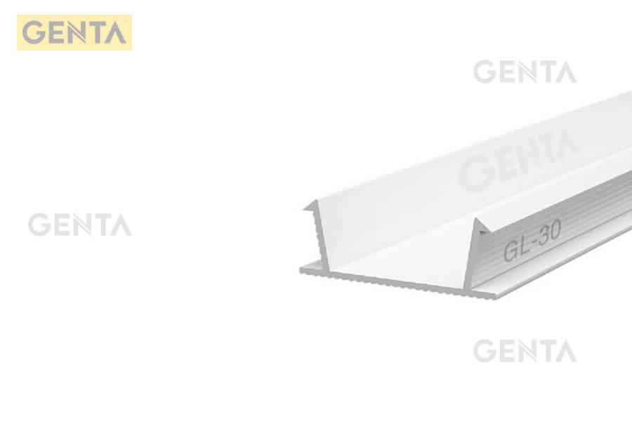 Hình ảnh thực tế của nẹp nhựa chữ U GL-30 tại GENTA