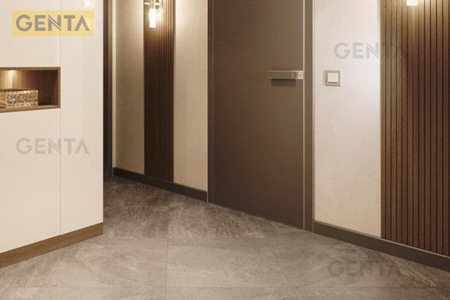 Len chân tường inox 304 S-CV sử dụng tại hành lang chung cư