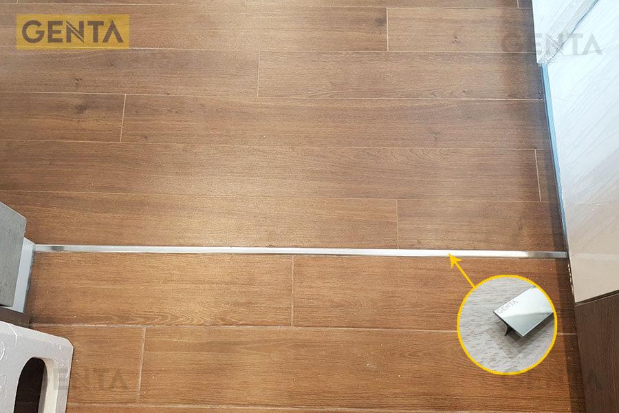 Hình ảnh ứng dụng thực tế của nẹp nối sàn gỗ inox T