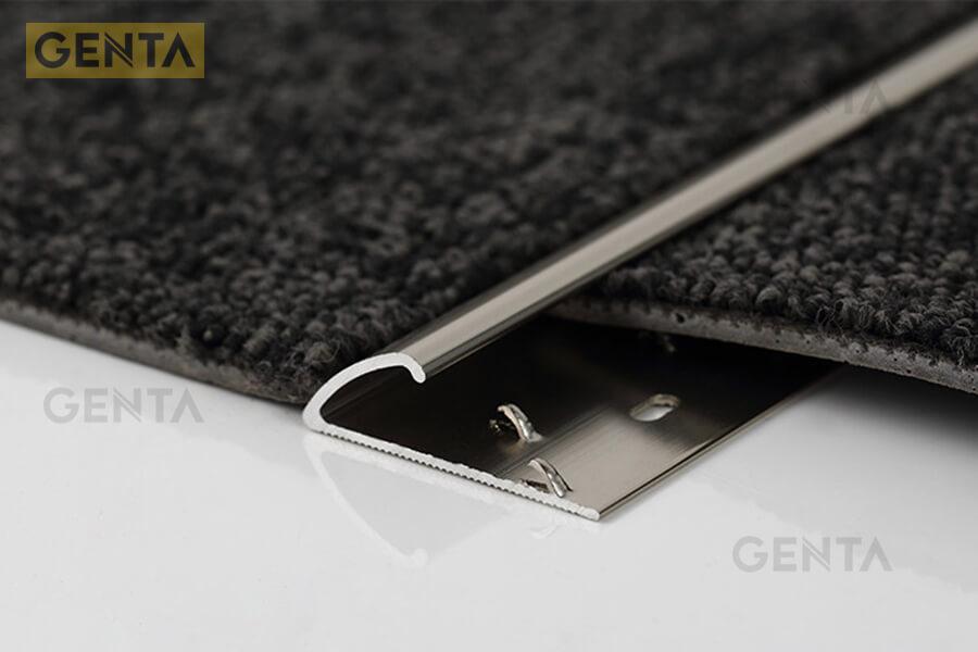 Hình ảnh nẹp thảm inox chữ J bo tròn mép thảm