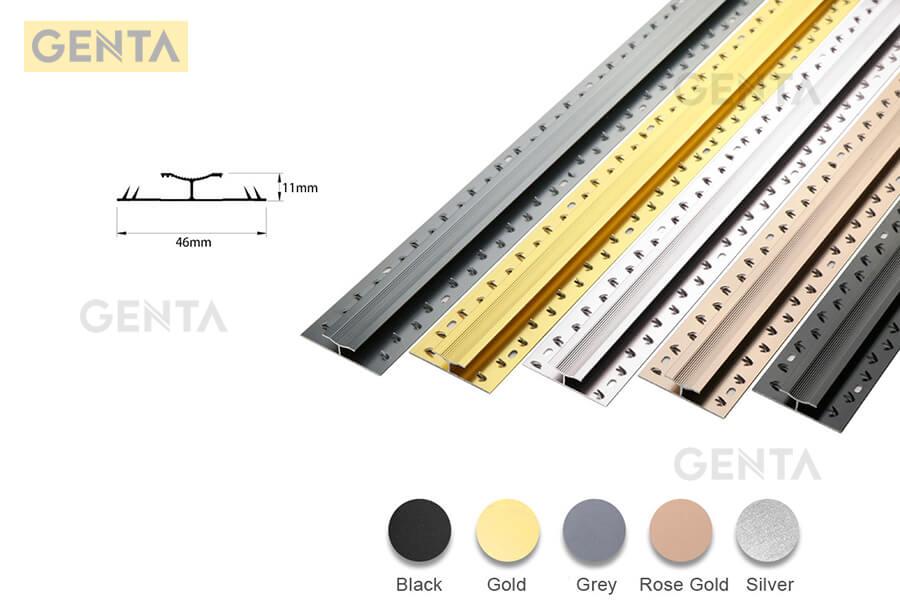 Nẹp thảm nhôm chữ H đa dạng màu sắc phù hợp với mọi công trình